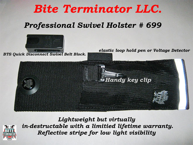 Bite Terminator® Basic Professional Deluxe Swivel Belt Case ONLY - #699